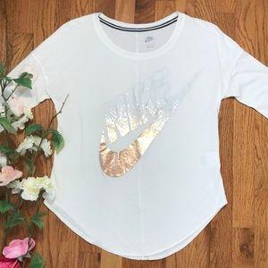 Nike Long Sleeve Copper Rose Gold Foil Swoosh Logo